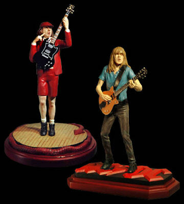 AC/DC Knucklebonz Statue Set Rock Iconz Angus Young Malcolm Young NIB