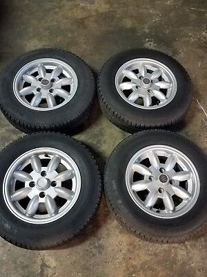 Austin healey sprite and MG midget wheels and tires 5.5x13 inches with Michelins