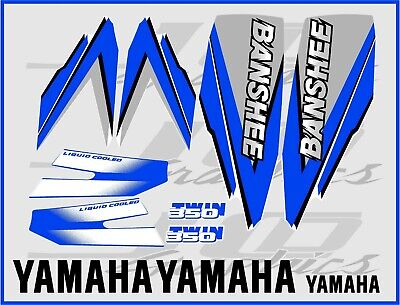 yamaha banshee full graphics decals kit 1998 blue