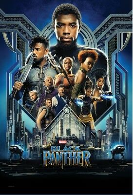 """Black Panther movie poster 2018 13x20""""/24x36""""Text Less Marvel comic."""