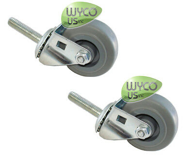 2 Caster Wheels For Squeegee Assy, Tennant T5, T3 Scrubbers, Repl 1006343, 3D
