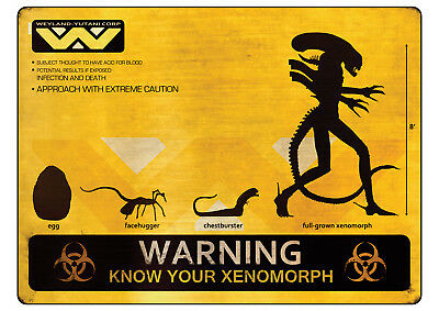 Art Print Poster / Canvas Alien Xenomorph Classic Movie