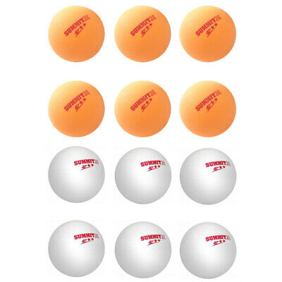 6pc Summit 2 Star Red Dot Table Tennis Ball 40+ Ping Pong Game/White or Orange