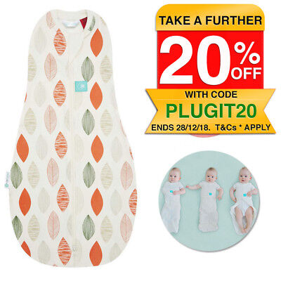 ergoPouch 1.0 TOG Baby Sleeping Bag Swaddle 3-12m/Organic Cotton/Spring/Autumn