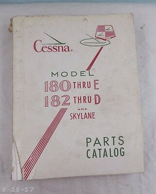 1963 Cessna Model 180 thru E 182 thru D & Skylane Parts Manual Catalog