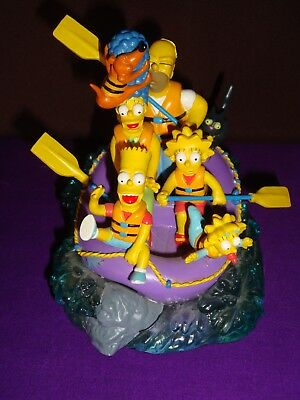 The Simpsons SHOOTING THE RAPIDS Hamilton Figurine FAMILY VACATION SCULPTURE
