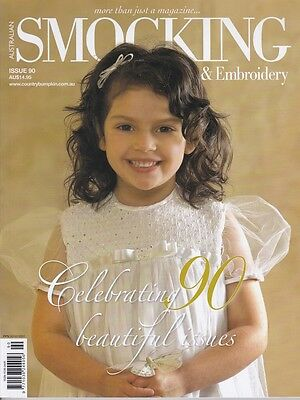 Australian Smocking & Embroidery Issue 90 Heirloom  Multi-size Patterns NEW