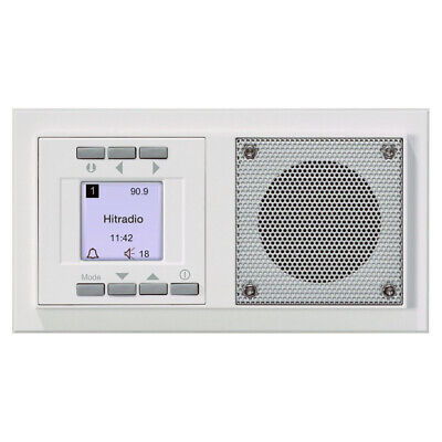 UP Radio Timer & Alarm function Flush-mounted in-wall Radio white pure white