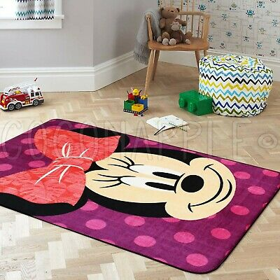 Super Kids Disney Minnie Mouse Fun Floor Rug S 100x150cm Free Delivery