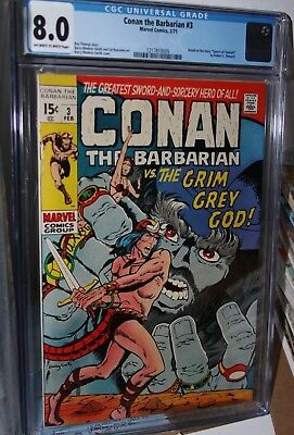 Conan The Barbarian #3 - VF Barry Smith - CGC graded 8.0 - Low print run