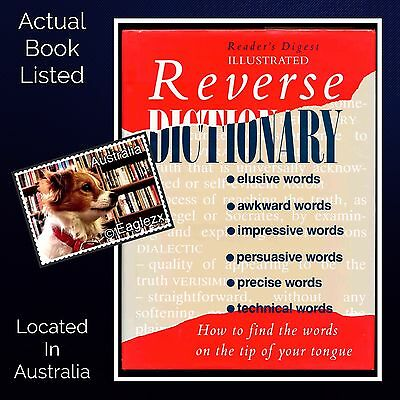Readers Digest Illustrated Reverse Dictionary Hardcover 1996 Revised