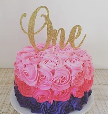 One Cake Topper - Assorted Colours - 1st Birthday - First birthday