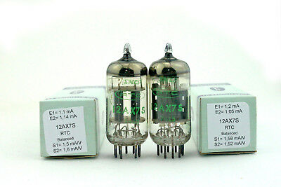 ECC83 / 12AX7S RTC SNCF matched balanced pair Tube, Valve, Röhren NOS NIB tested