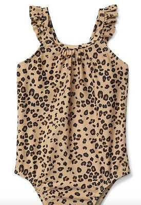 babyGap Leopard animal print flutter one-piece swimsuit NWT 2T