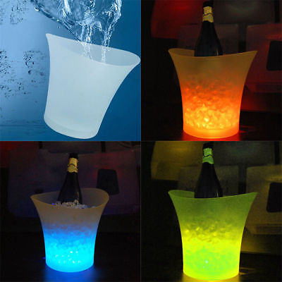 Colour Changing Led Ice Bucket Champagne Wine Drink Cooler Retro Party Bar Uk