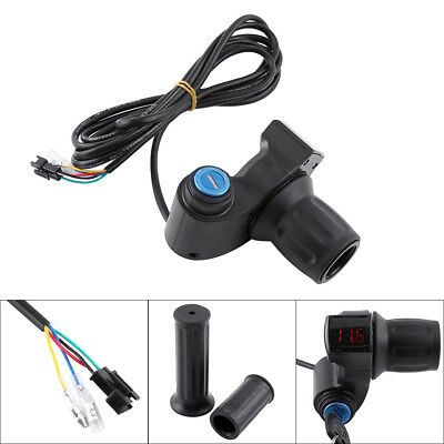 12V-84V Scooter Ebike Half Twist Digital Data Throttle Grip Handlebar W/ Lock DY