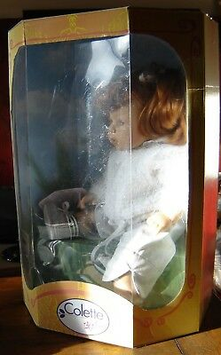 """Zapf Creation Colette Robin doll. NIB. Approximately 17"""" tall."""