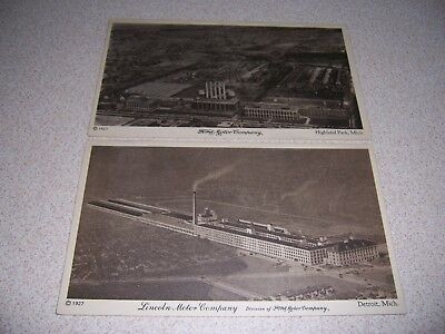 1927 Aerial-Views Ford & Lincoln Motor Company Factories Antique Postcard Lot