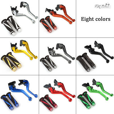 For Yamaha FZ-07/MT-07 2014-2018 Brake&Clutch Levers Handle Grips Motorcycle Set