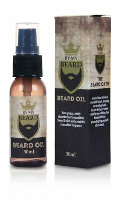By My Beard Oil 30ml Light Non Greasy Conditioning Masculine Fragrance Absorbed