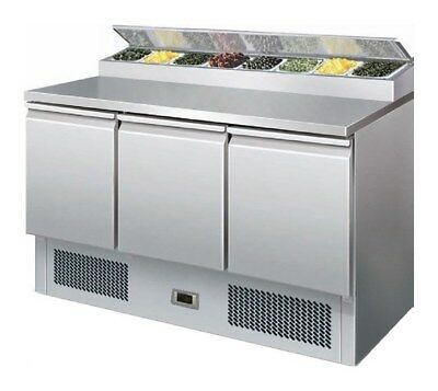 Gastroline PS300 Refrigerated Pizza / Salad Prep Counter SALE Special