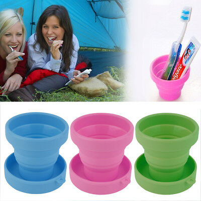 Portable Silicone Telescopic Drinking Collapsible Folding Cup Travel Camping OL