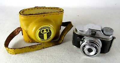 Vintage Crystar Miniature Spy Camera Japan With Case Aqua Lung Parts Repair