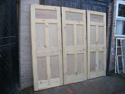 Reclaimed 1930s 5 panel doors. Stripped, in excellent condition  (11 available)