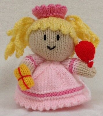 Charlotte the Street Party Girl choc orange cover //18 cms toy KNITTING PATTERN