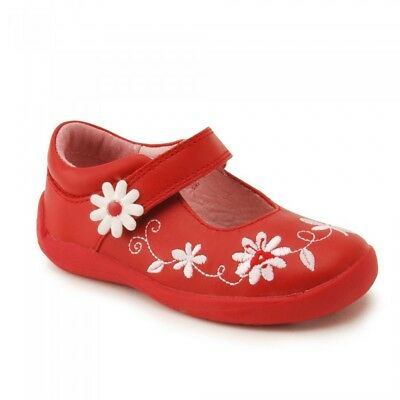 Girls Touch Fastening Mary Jane Start Rite Honey Bee Red UK Size 6 - 9.5 F Fit
