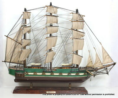 """Large 22"""" tall VINTAGE MODEL SHIP - THE PRESIDENT, FRIGATE Year 1800"""