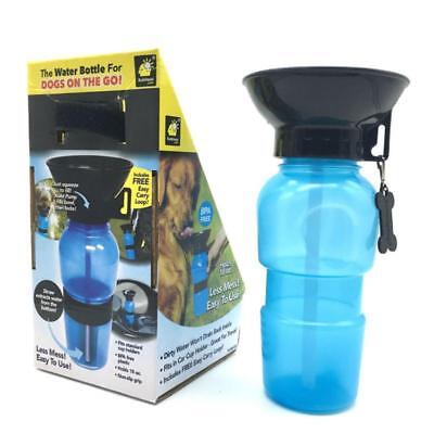 Pet Aqua Dog Travel Drinking Water Bottle On The Go Cup UK Seller