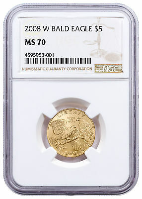 2008-W Bald Eagle $5 Gold Commemorative Coin NGC MS70 SKU17746