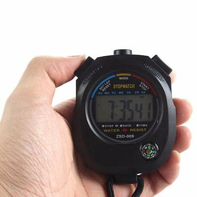 Waterproof Sports Digital LCD Stopwatch Chronograph Timer Counter Alarm