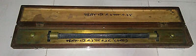 Nautical Marine Brass Parallel Ruler with wooden box