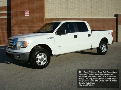 2011 Ford F-150 4x4 Crew Cab 2011 FORD F150 CREW CAB 4X4 4WD XLT F-150 3.5L V6 ECOBOOST NEW TIRES CARFAX NICE