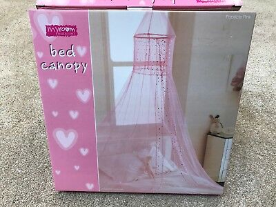 Country club popsicle voile design children's bed canopy pink brand new