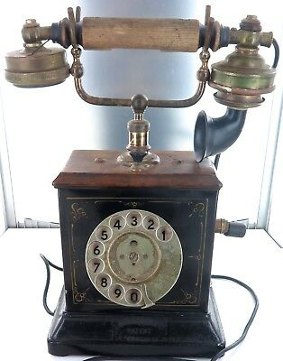 .vintage Ericsson Hand Crank Telephone With Commonwealth Of Australia Pmg Plaque