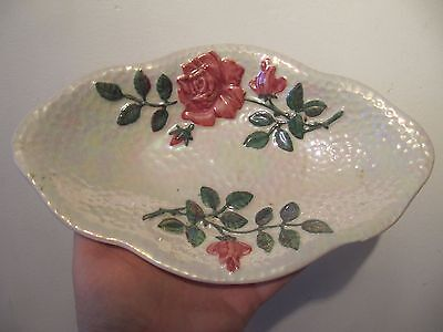 Maling Pottery Pewter Rose Bowl Dish c1961