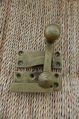 Antique Vintage Brass Window Lock With Locking Handle Project Collector 27-36