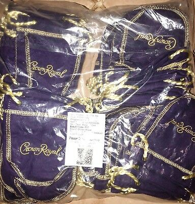 Lot of (50) 50ml Crown Royal Bags (empty)