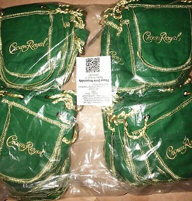 Lot of (50) 50ml Crown Royal Apple Bags (empty)
