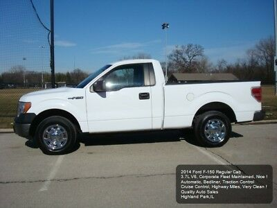 2014 Ford F-150 XL 2014 FORD F-150 V6 F150 3.7L V6 1 OWNER FLEET MAINTAINED SUPER CLEAN CRUISE AUTO