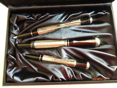 "Montblanc Set ""marcel Proust""  Fp, Bp, Mp,  New  Never Used Year 1999"