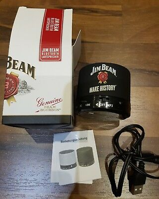 Jim Beam Whisky, Bluetooth Akku Speaker, Mp3 Lautsprecher Aux 3 Watt NEU & OVP