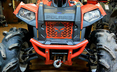 Custom Red Punisher Polaris Scrambler Grill 850 1000 XP HO 2013-2017
