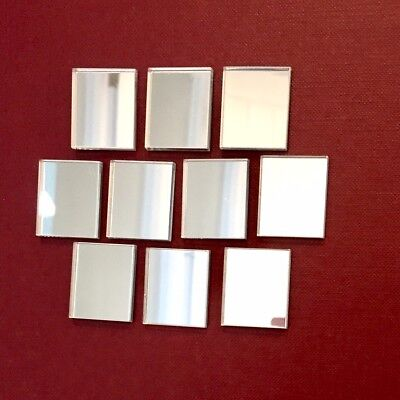 Pack of Rectangle Craft Scrapbook Card Embellishment Wedding Acrylic Mirrors