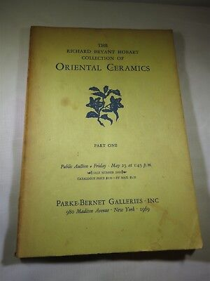The Richard Bryant Hobart Collection of Oriental Ceramics Auction Catalog 1969