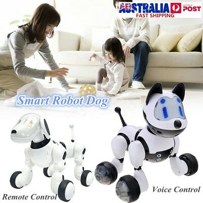 Electronic RC / Voice Control Pet Robot Dog Talking Walking Action Toys Kid Gift