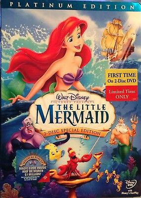 Walt Disney THE LITTLE MERMAID DVD Special Platinum Edition 2-Disc Set